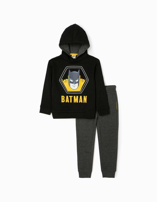 Fato de Treino para Menino 'Batman', Preto/Cinza Escuro