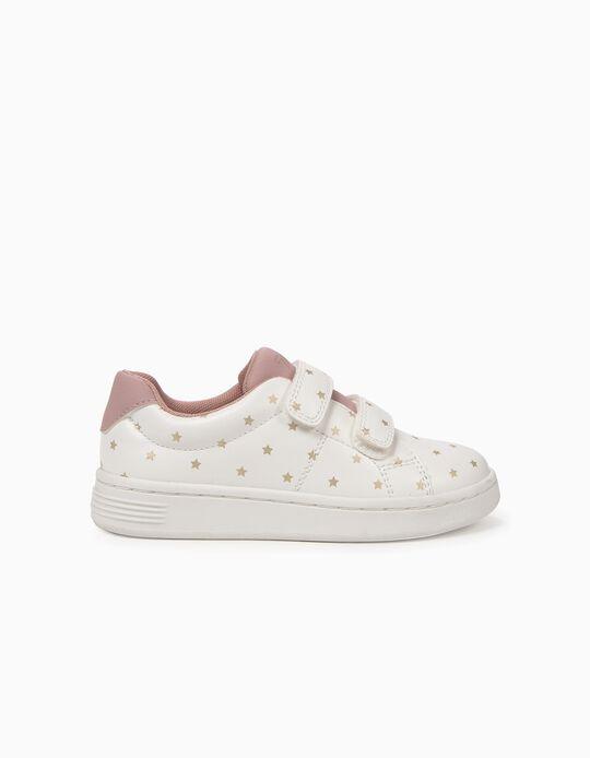 Sapatilhas para Menina 'ZY Stars' com Velcro, Branco