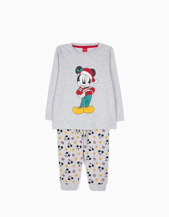 Pijama de Manga Larga y Pantalón Mickey Christmas