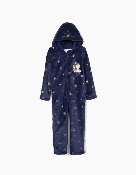 Pijama-Macacão para Menina 'Frozen II', Azul Escuro