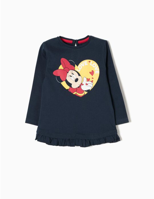 T-Shirt Manga Comprida Love Minnie
