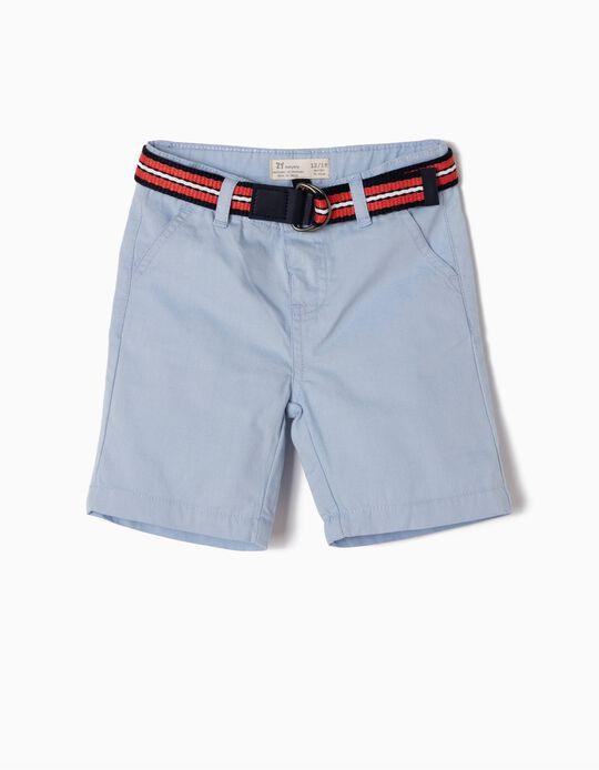 Short Azul con Cinturón