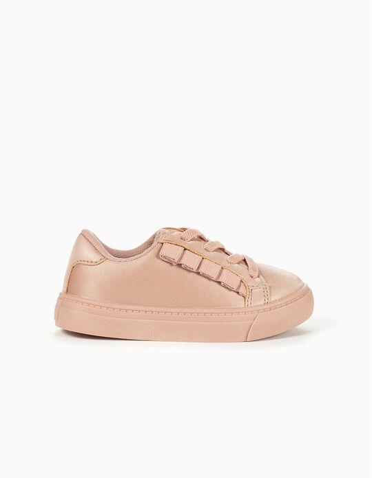 Zapatillas para Bebé Niña 'Volantes', Rosa