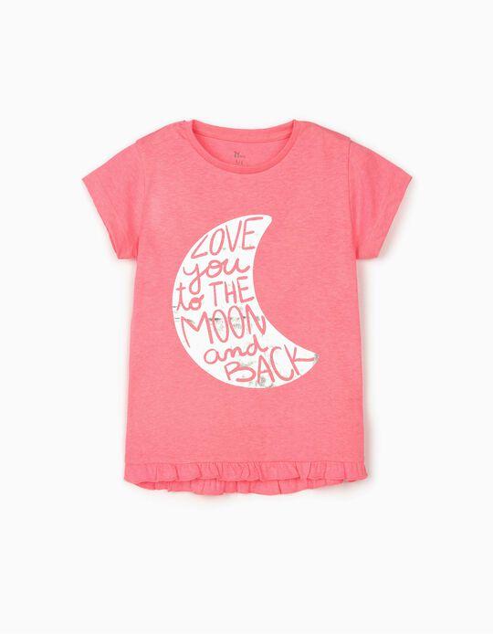 Camiseta para Niña 'Moon', Rosa