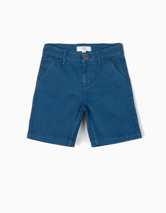 Short Chino para Niño, Azul
