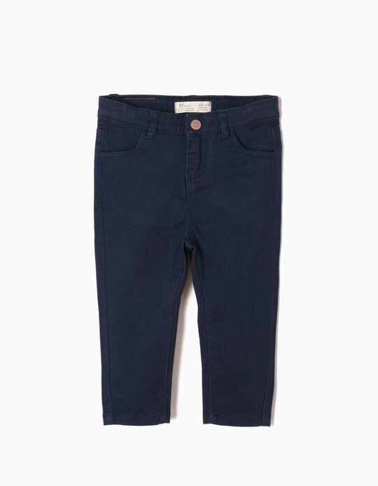 Pantalón de Sarga Azul Oscuro