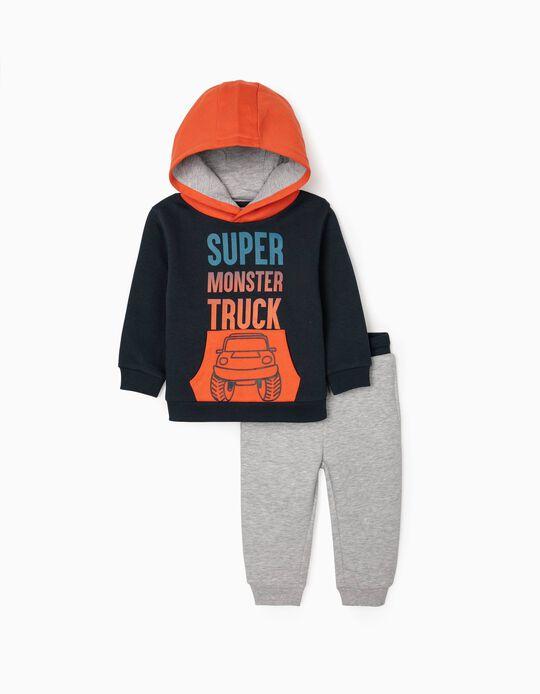 Chándal para Bebé Niño 'Truck', Azul/Naranja/Gris