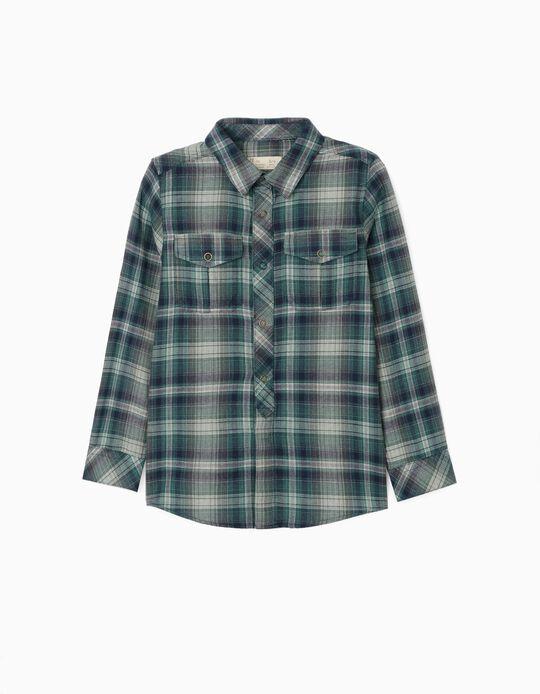 Plaid Shirt for Boys, 'Kansas', Blue