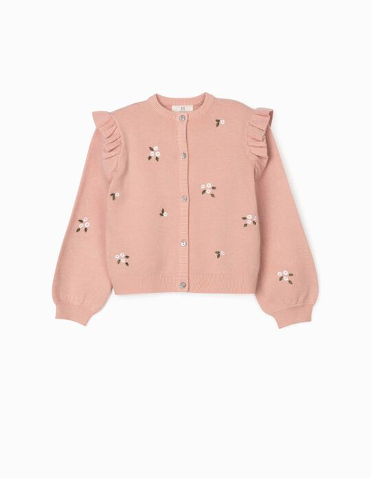Cardigan for Girls 'Flowers', Pink