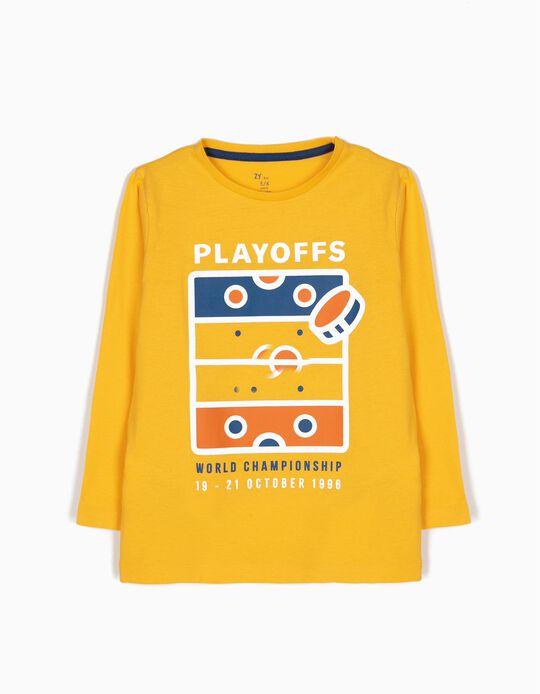 T-shirt de Manga Comprida Ice Hockey Amarela