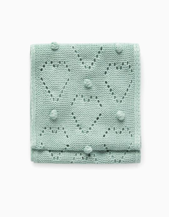 Knitted Snood with 2 Loops for Girls, Aqua Green