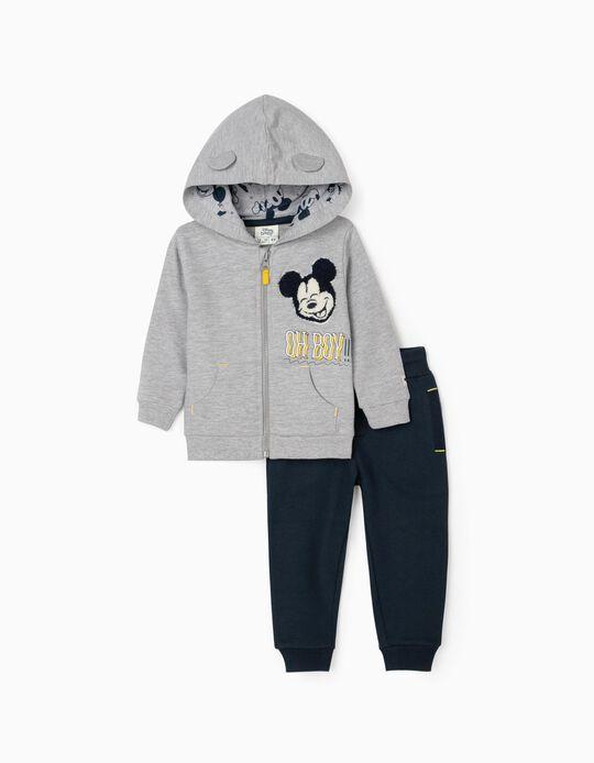 Chándal para Bebé Niño 'Mickey Oh Boy!', Gris/Azul Oscuro