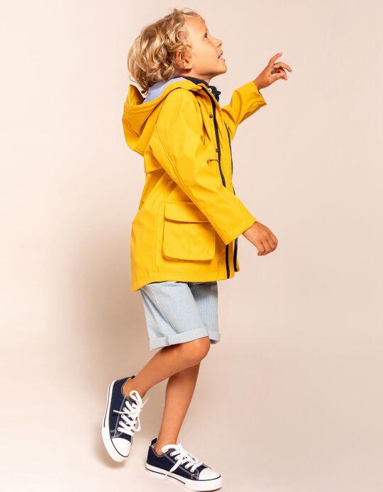 Parka à capuche garçon, jaune