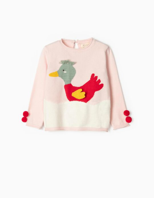 Jumper for Baby Girls 'Duckling', Pink