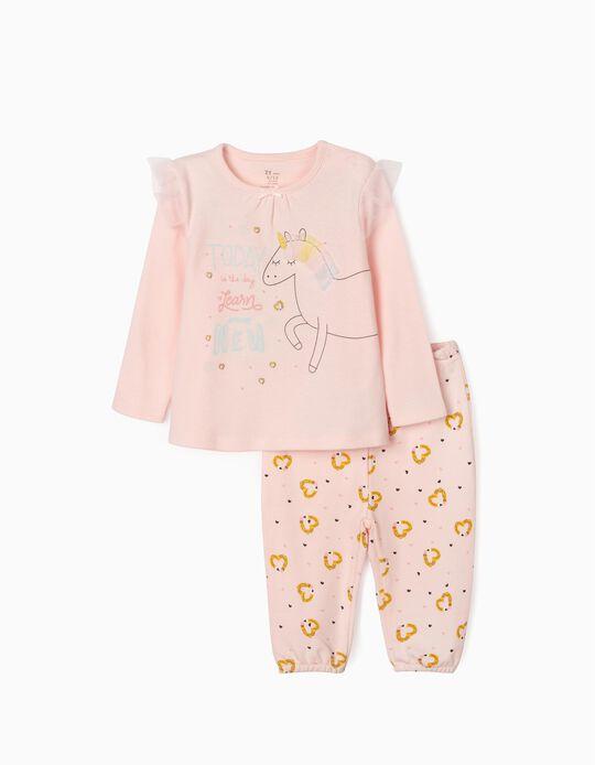 Pijama para Bebé Niña 'Unicorn', Rosa