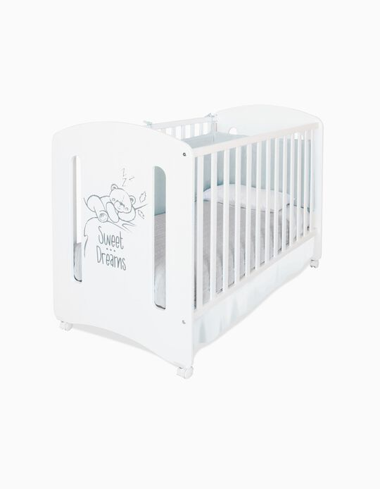 Baby Bears Wooden Cot 120x60 cm by Asalvo