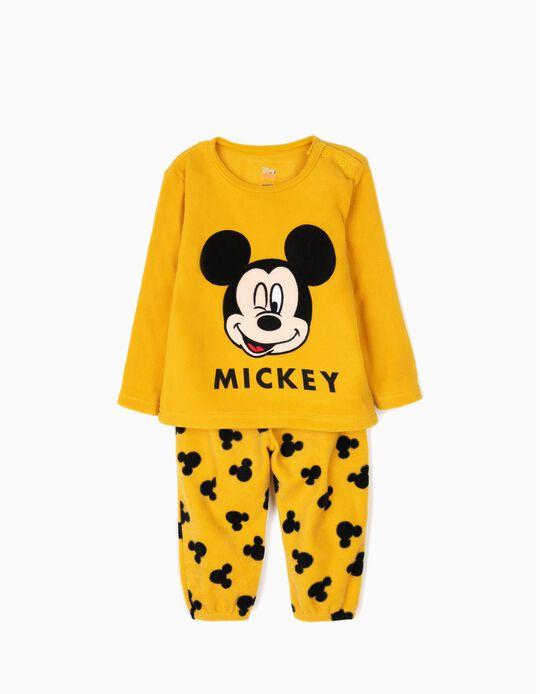 Pijama Polar para Bebé Menino 'Mickey', Amarelo