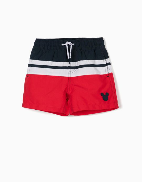 Swim Shorts for Baby Boys, 'Mickey Mouse', Red/White/Blue