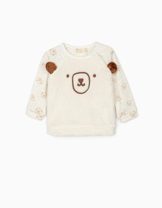 Sweatshirt para Recém-Nascido 'Bear', Bege