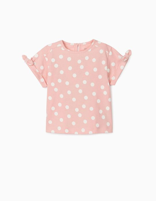 T-shirt for Baby Girls, 'Dots', Pink
