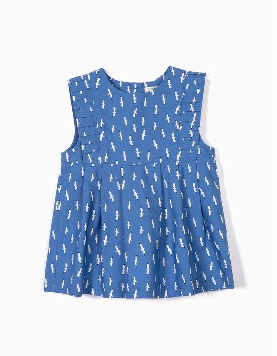Blusa para Niña 'B&S' Gaviotas, Azul