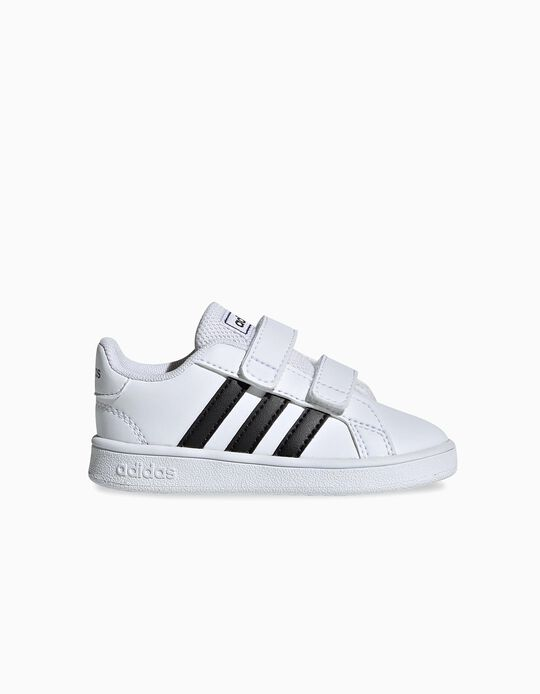 Sapatilhas para Bebé 'Adidas Grand Court', Branco/Preto