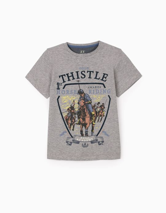 T-Shirt for Boys 'Gold Thistle', Grey
