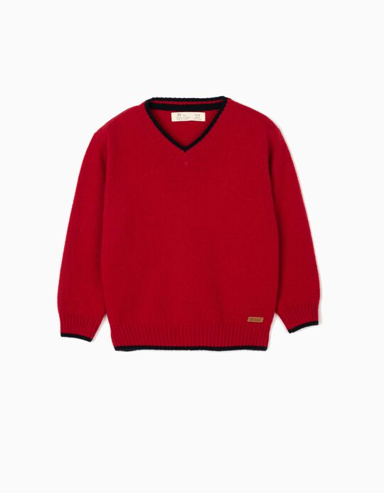 Wool Jumper for Boys, Red