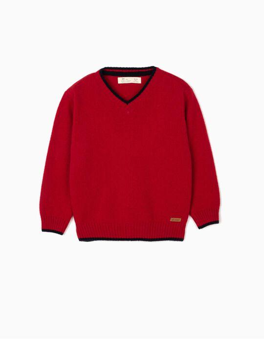 Camisola Lã para Menino, Vermelho