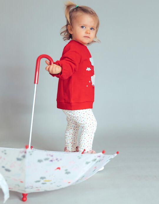Sweatshirt para Bebé Menina 'Farm Friends', Vermelho
