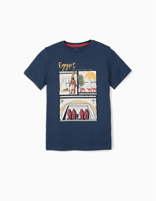 Camiseta Niño 'Egypt', Azul