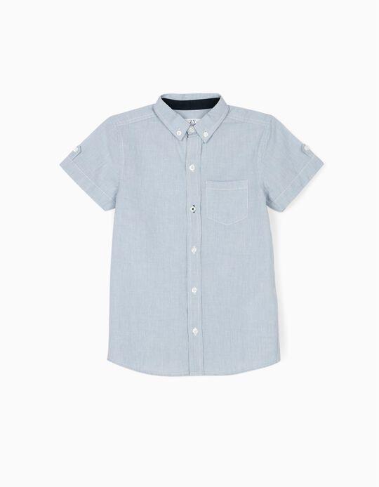 Chemise à rayures garçon, bleu