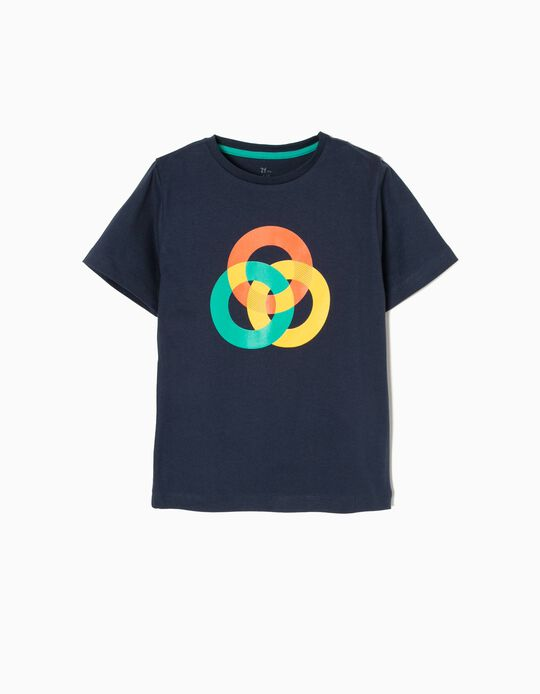 Camiseta de Manga Corta Circulo