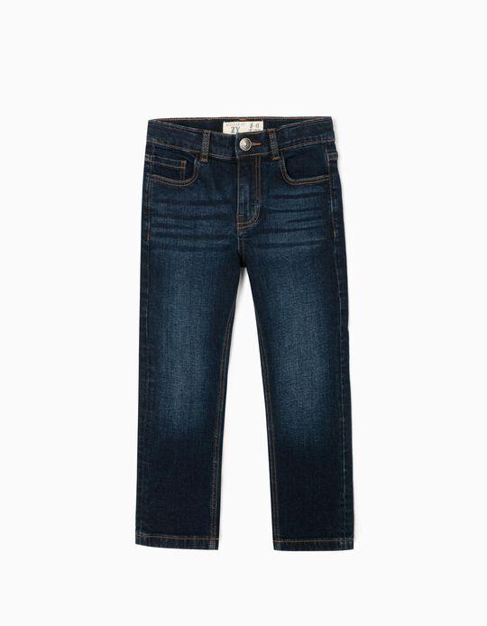 Denim Jeans for Boys 'Regular Fit', Dark Blue