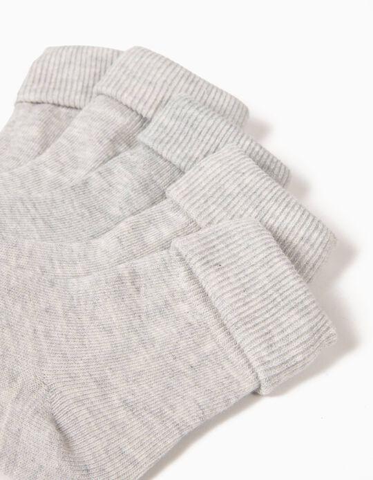 Pack de 5 Pares de Calcetines con Vuelta Grises