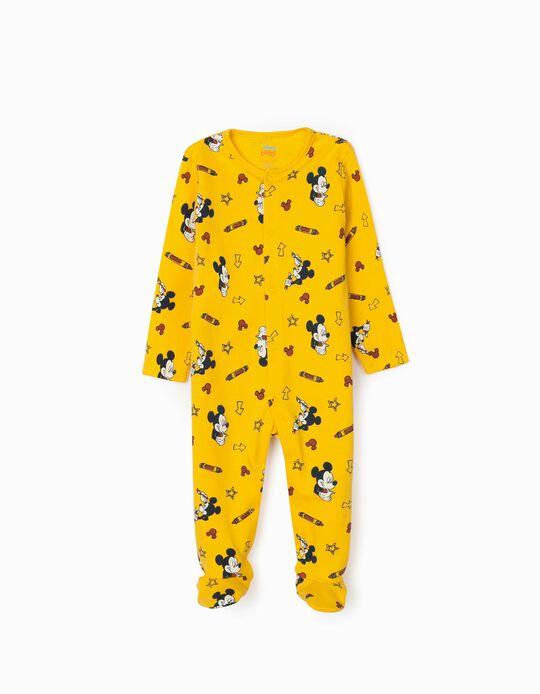 Pelele para Bebé Niño 'Mickey Artist', Amarillo