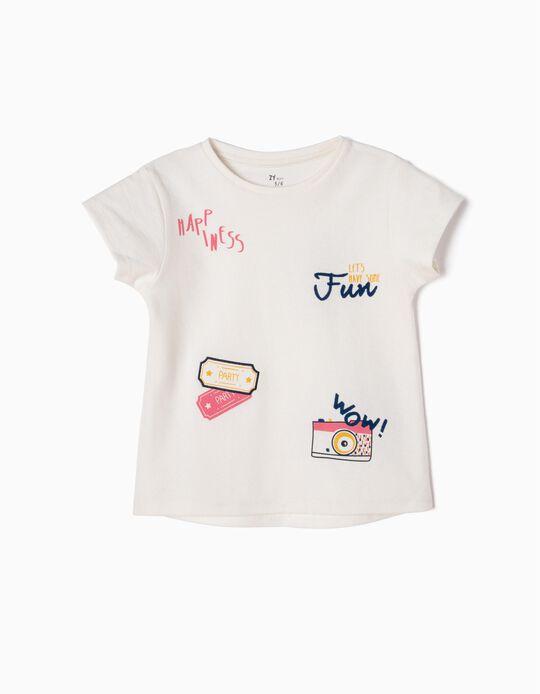 Camiseta Estampada en Relieve
