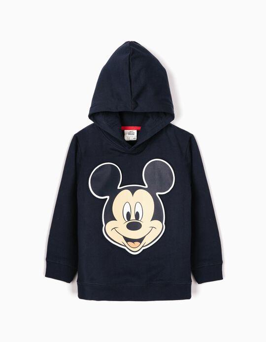 Sweatshirt com Capuz para Menino 'Mickey', Azul Escuro
