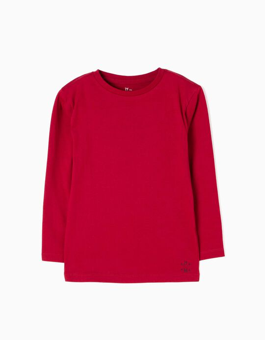 Camiseta Manga Larga Rojo Oscuro