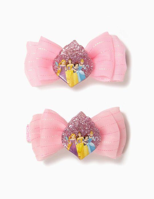 2 Pasadores del Pelo para Niña 'Disney Princess', Rosa