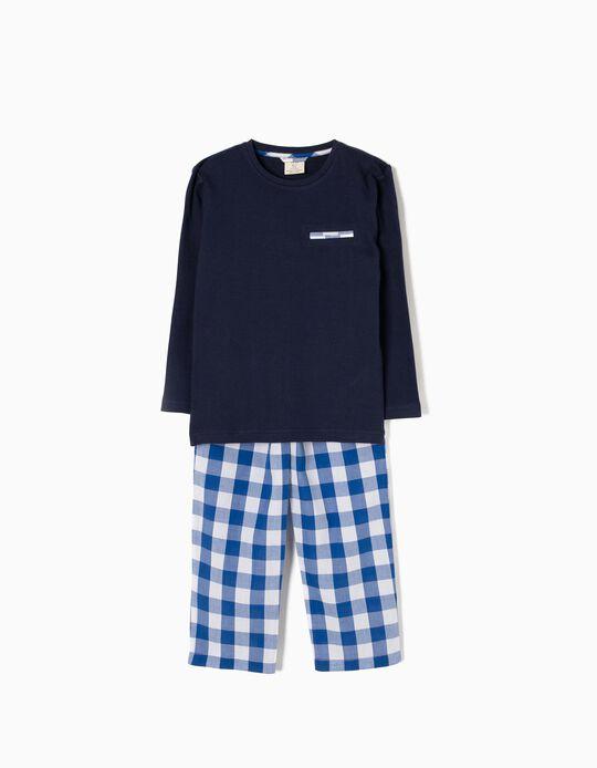 Pijama de Manga Larga Ajedrez