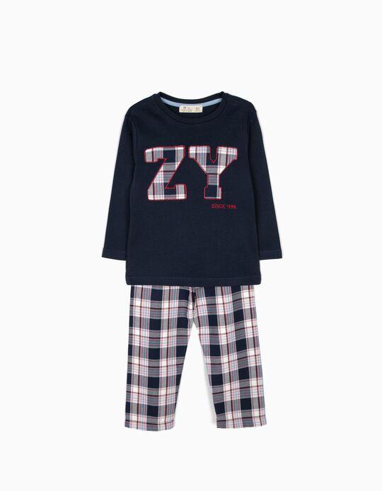 Pijama Niño Ajedrez B&S