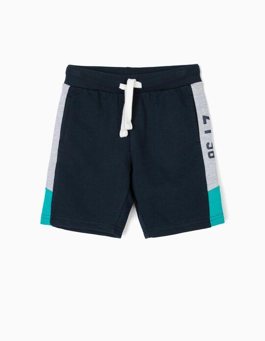 Short Deportivo para Niño 'ZY 96', Azul Oscuro