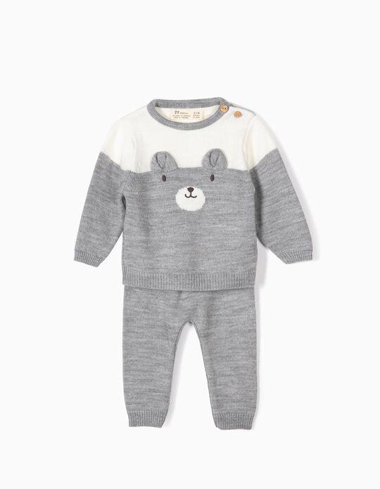 Jersey y Pantalón para Recién Nacido 'Teddy Bear', Gris