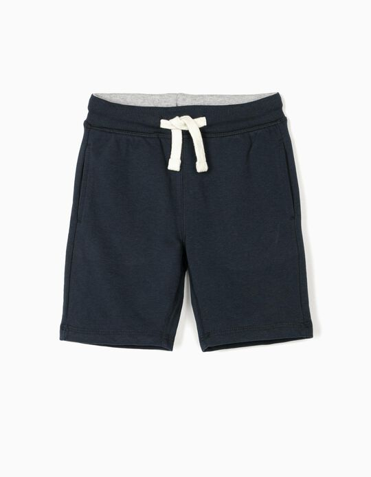 Sports Shorts for Boys, Dark Blue