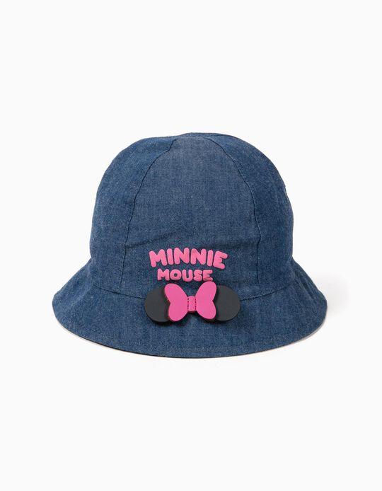 Chapéu de Ganga para Bebé Menina 'Minnie', Azul