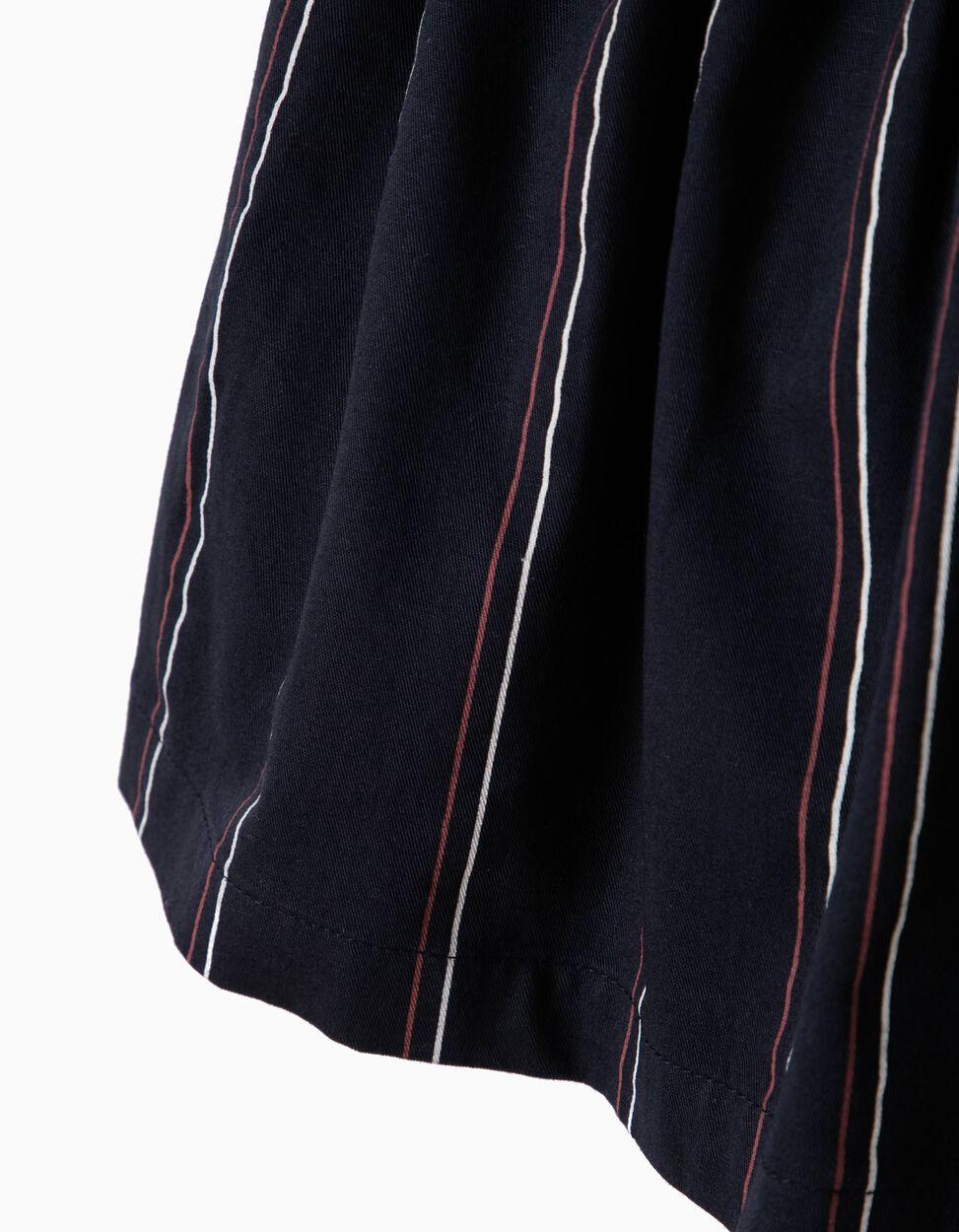 Falda Azul con Rayas Verticales