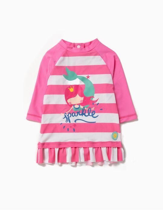 Camiseta Bañador para Bebé Niña 'Mermaid' Antirrayos UV 80, Rosa