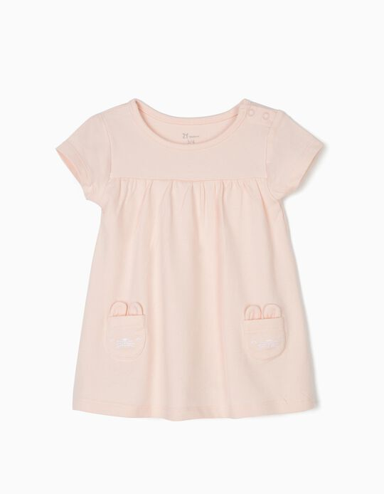 Vestido-Body para Recém-Nascida 'Bunny', Rosa