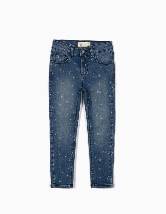 Calças de Ganga para Menina 'Stars', Azul